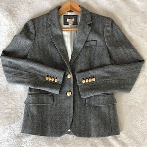 JCrew Women's Herringbone Wool Blend Blazer Sz. 4
